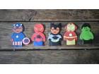 Porodica Prstić, superheroji, igračke, lutke
