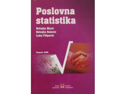 Poslovna statistika   Marić, Ralević, Filipović
