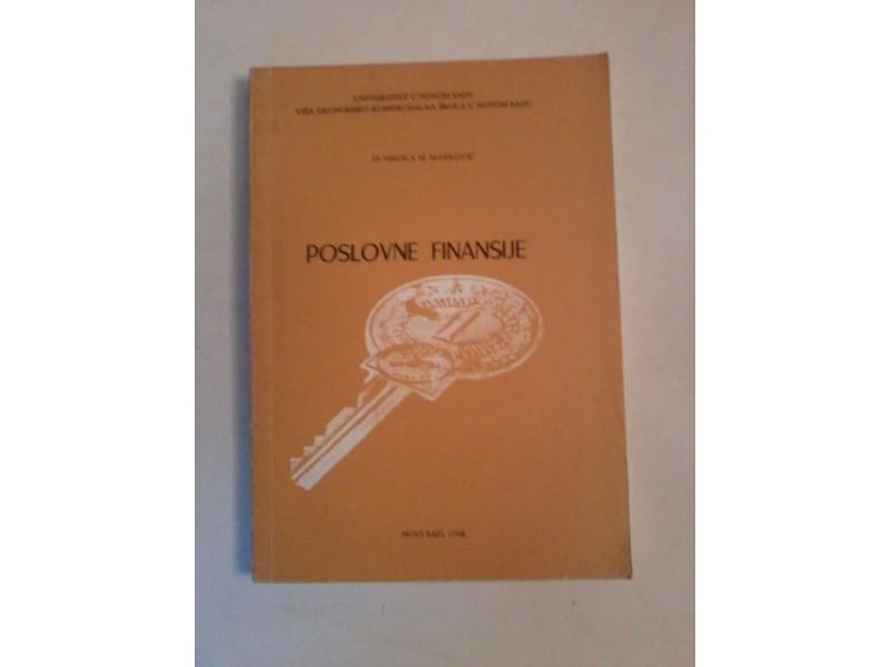 Poslovne finansije, Nikola M.Marković
