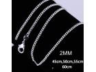 Posrebren  prelep lanac 925, 2 mm