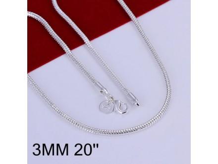 Posrebren prelep lanac, 925 , 50cm x 3mm