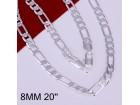 Posrebren prelep lanac, 925 , 8mm,akcija