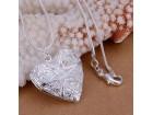 Posrebreni ogrlica sa priveskom srce, SNIŽENJE