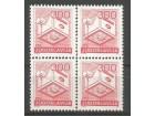 Poštanski saobraćaj 1986.,četverac-zup 12 1/2,čisto