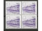 Poštanski saobraćaj 1986.,četverac-zup 13 1/4,čisto