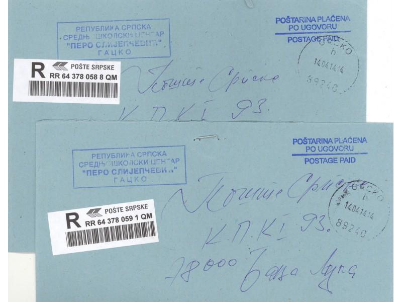 Poštarina plaćena po ugovoru Srpska Gacko