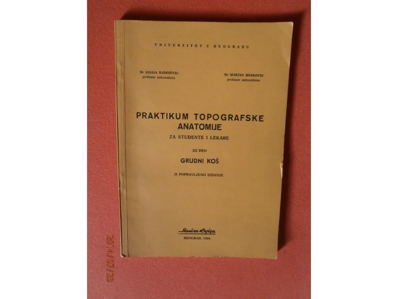 Praktikum Topografske Anatomije (Grudni kos), Radojevic