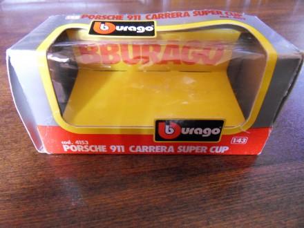 Prazna BURAGO kutija iz 80-ih za PORSCHE 911 CARRERA