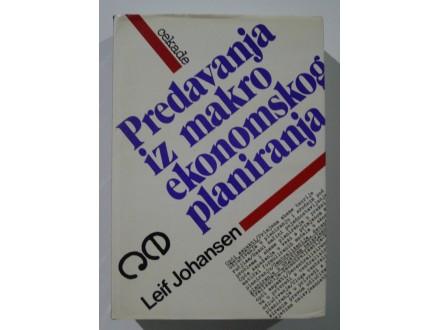 Predavanja iz makroekonomskog planiranja, L. Johansen