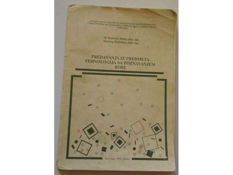 Predavanja iz predmeta tehnologija sa poznavanjem robe