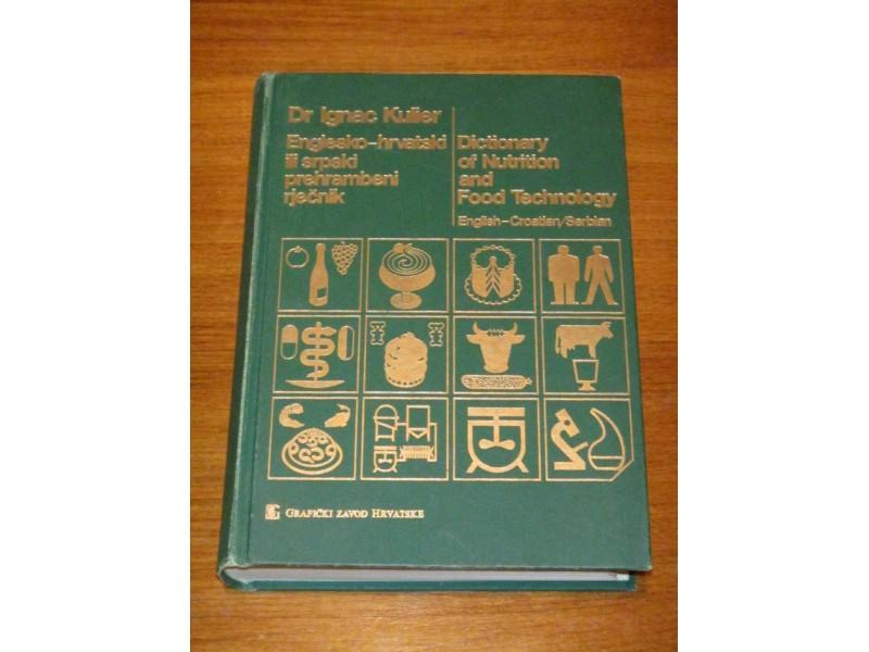 Prehrambeni rječnik, Englesko-hrvatski ili srpski