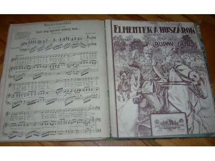 Preko 50 mađarskih i nemačkih notnih izdanja 1911-1918