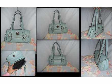 Prelepa tirkizno plava torbica
