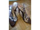 Prelepe sandale bronzano zlatne 39/25 cm
