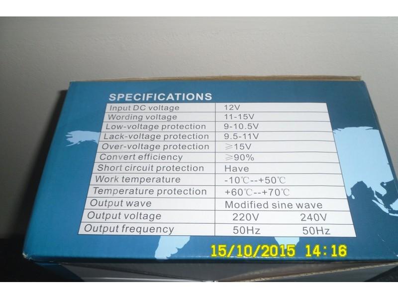 Pretvarac napona-Inverter12V- 220V-3000W