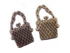 Privezak boje bronze tašna torbica 19mm