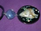 Privezak od abalon školjke i ahata