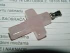 Privezak od rozen kvarca dužine 2.5 cm