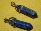 Privezak šestougaonik od lapis lazuli- dužina 41 mm