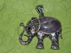 Privezak slonče od ametista-amajlija za napredak