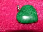 Privezak srce od amazonita   dimenzija kamena 25 mm