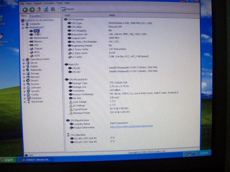 Procesor za 775soc,, HTT 3000mhz,sa 2mb kes,800 mag