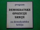 Program DEMOKRATSKE OPOZICIJE SRBIJE