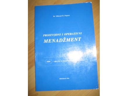 Proizvodni i operativni menadzment