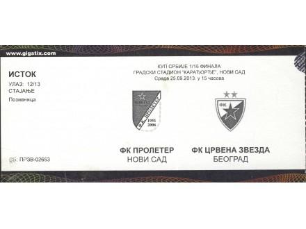 Proleter Novi Sad - Crvena Zvezda , 2013.god.