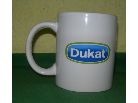 Promotivna keramička šolja za (belu) kafu, Dukat