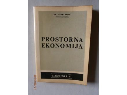 Prostorna ekonomija, Ljubinka Pjanić