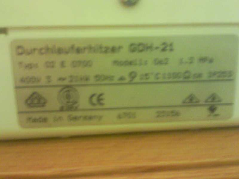 Protocni bojler 21KW
