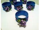 Prstenčići za salvete: Plavo-ljubičasti (ručni rad)