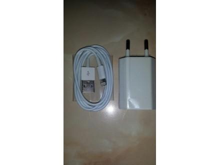 Punjac i  USB kabal za Iphone 5 i 6 NOVO