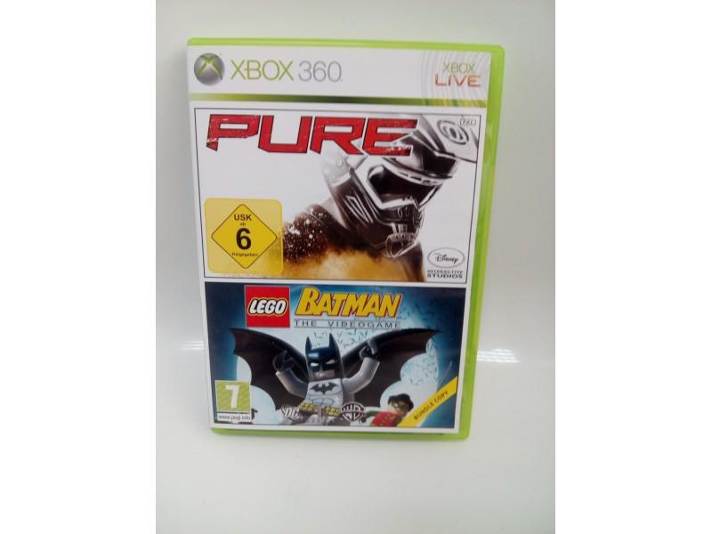 Pure + Lego Batman Xbox360 Igra