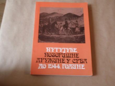 Putujuće pozorišne družine u Srba do 1944. godine