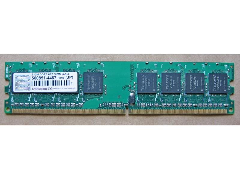 RAM memorija Transcend 512 MB, DDR2, 667