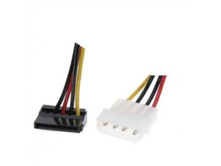 RASPRODAJA # Secomp Roline SATA, 15 pin to 4 pin power adapter pod uglom, 0.2m