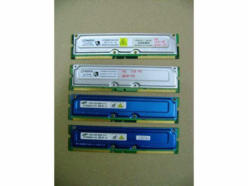 RDRAM (Rambus) 4x128 MB PC800-45