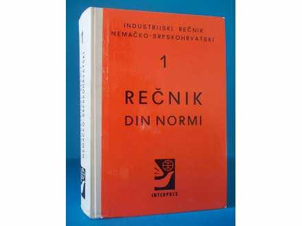 REČNIK DIN NORMI-industrijski rečnik nemačko-srpskohr.