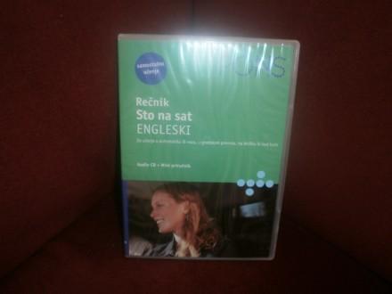 RECNIK STO NA SAT  ENGLESKI,knjizica plus DVD