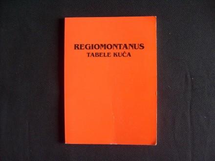 REGIOMONTANUS, tabele kuća