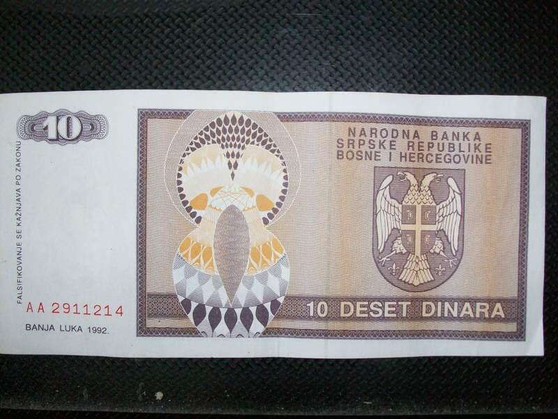 REPUBLIKA SRPSKA 1992. - 10 DINARA