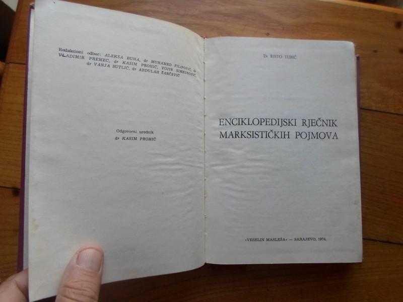 RISTO TUBIĆ - ENCIKLOPEDIJSKI RJEČNIK MARKSIST.POJMOVA