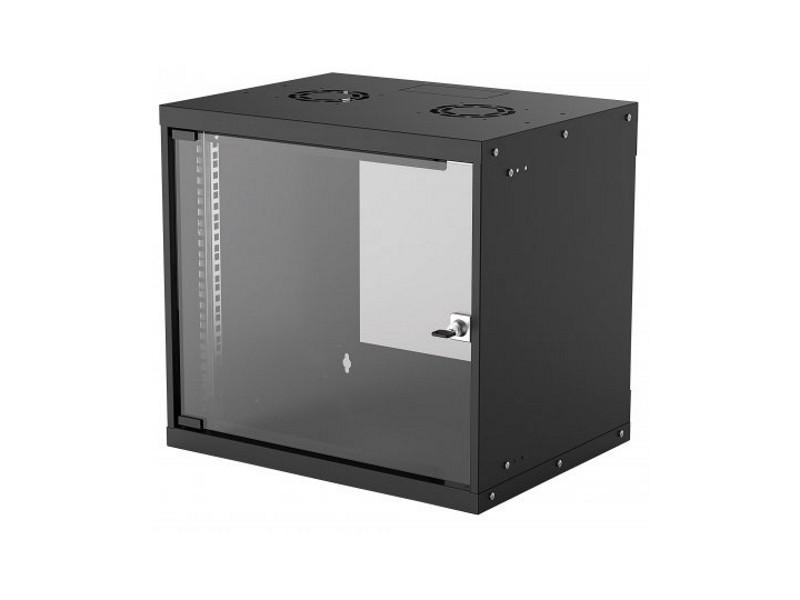 Rack orman Intellinet Basic 19` 9U 540X560, zidni, vrata sa kaljenim staklom, sa PDU-om