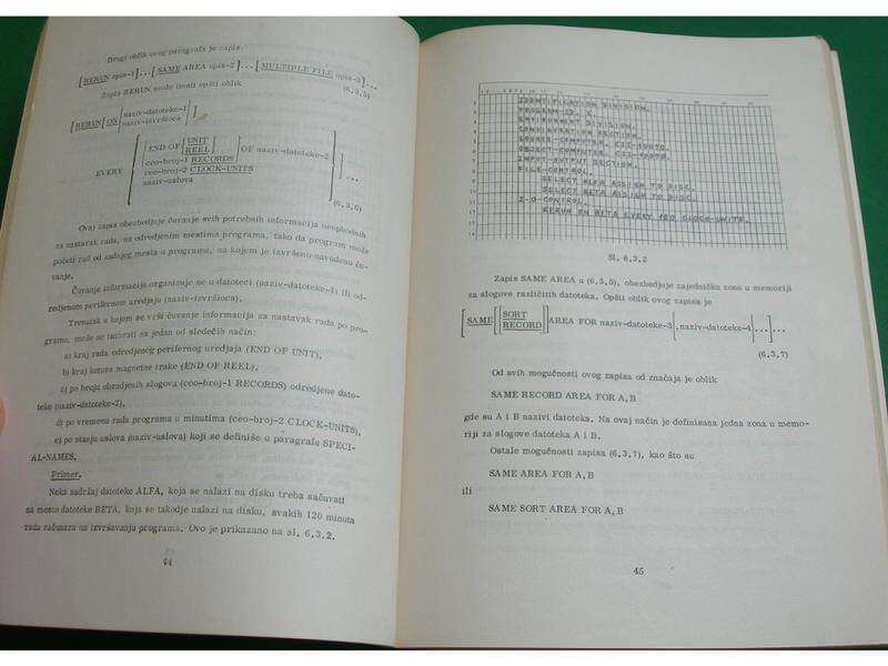 Računske mašine i programiranje programski jezik Cobol