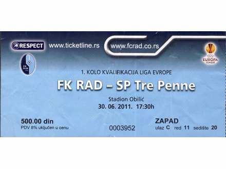 Rad - SP Tre Penne   ,   2011.god.