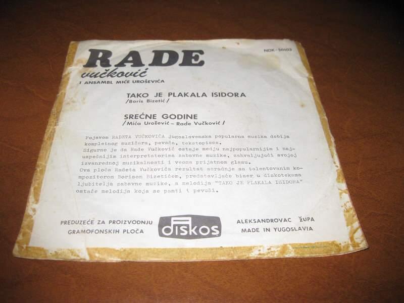 Rade Vučković - Tako Je Plakala Isidora