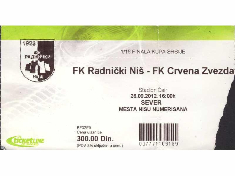 Radnički Niš - Crvena Zvezda   ,   2012.god.