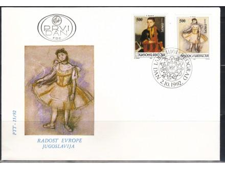 Radost Evrope 1992.,FDC